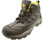 Northwest Territory Mens Black Leather Safety Hiker Oil Resistant Work Boots