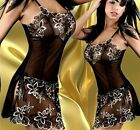 Sexy Lingerie Babydoll Nightgown Robe Chemise Plus size 10 12 14 16 18 20 22 24