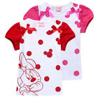 HOT!Sweet Kids Toddler Girls Minnie Mouse Polka Dot Bowk Tops T-Shirt 2-8Years