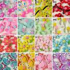 5/50Pcs mixed cartoon resin flatback beads button craft embellish U pick