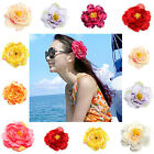 "2/12 Artificial Silk Peony Flower Heads 4"" for Home Wedding decoration Hair Clip"