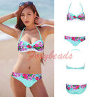 Summer Hot Sexy floral folk Lady Padded Tube-tops Push Up Suit Bikini Swimsuit