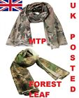 SCRIM NET SCARF =HUNTING SHOOTING PAINTBALL FOREST LEAF CAMO or MTP MULTICAM DPM