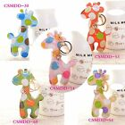 Cute Colorful Synthetic leather Giraffe Bag Accessory  Keychain Keyrings 4'' New