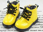 Fashion cute Boys girls Synthetic boots infant kids shoes zip lace up AU cs112