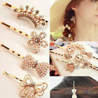 NEW STYLE BOW BUTTERFLY PEARL HAIRPIN RHINESTONE CRYSTAL HAIR CLIP BARRETTE BF2K
