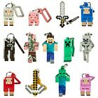 "Minecraft 3D Hangers 3"" Keychain, Keyring, Bag/Belt Clip - Select Your Character"