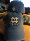 Notre Dame Fighting Irish NCAA Navy ND Gold Logo Franchise Hat Cap University IN