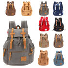 32L Vintage Canvas Rucksack Camping Travel Sport Satchel Backpack School Bag
