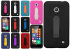 Nokia Lumia 635 Impact Hard Rubber Kick Stand Case Phone Cover + Screen Guard