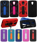 LG Volt LS740 F90 Impact Hard Rubber Kick Stand Phone Cover + Screen Protector