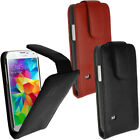 Genuine Leather Flip Case Cover for Samsung Galaxy S5 SV SM-G900 + Screen Prot