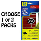 80 Exterior Sticky Pads - Double Sided Adhesive Pads - Outside & Indoor Use