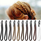 Top Ladies Braided Synthetic Hair Plaited Plait Elastic Headband Hairband