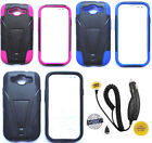 Samsung Galaxy S3 S III - Phone Cover Hybrid T-STAND Case + CAR CHARGER
