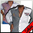 Polo Shirt Party Checked Long Sleeve Shirts Men's White Party Checkered M L Xl