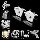Buy 2 Get 1 Free Novelty Silver Golden Wedding Shirt Suit Men's Cufflinks