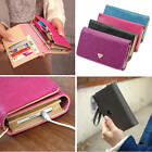 Envelope Card Wallet Faux Leather Purse Cover F Galaxy S2 S3 Iphone 4S 5 Samsung