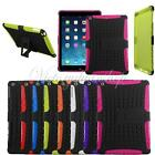 RUGGED TPU SKIN RUBBERIZED HARD CASE COVER WITH STAND FOR APPLE iPAD AIR 5th