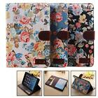 New Floral PU Leather Case Cover Stand Card Bag Wallet CSUG for iPad Air mini 2