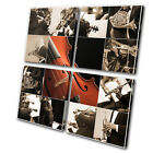Musical Instruments  MULTI CANVAS WALL ART Picture Print VA