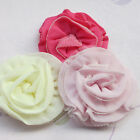 E219 Mix Chiffon/Gauze Rose Flowers Crafts DIY Sewing Appliques 70mm 10/50pcs