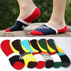 Contrast Colors NO SHOW Invisible Sport Sock Low Cut Ankle Casual Cotton Socks