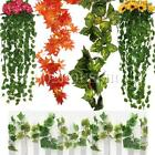 5pcs 8.2ft Artificial Ivy Vine Foliage Flower Leaf Garland Home Wedding Decor