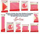Sew Easy Acrylic Templates Quilt Patchwork Stitch Craft Ruler All Sizes & Styles