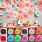 Paper Flower Fans Birthday Party Wedding Home DIY Hanging Decoration Supplies