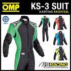 NEW! KK01723L OMP KS-3 ADULT KART SUIT IN FLOURESCENT COLOURS CIK-FIA LEVEL 2
