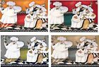 """FAT CHEF 4 BACKGROUND COLORS REFRIGERATOR MAGNETS  SET OF 4  ALUMINUM  2"""" X 3"""""""