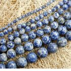 Natural Blue Spots Jasper Gemstone Round Beads 15'' 4mm 6mm 8mm 10mm 12mm