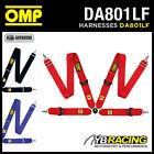 "DA801LF OMP 801LF PROFESSIONAL HARNESS BELTS 4-POINT with 3"" STRAPS 3 COLOURS"