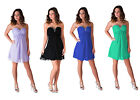 Formal Dress Beaded Evening Gown Bridesmaid Wedding Party Prom S - 2XL