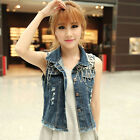 Sleeveless Denim Cowboy Vest Jacket Free Shipping Korean style Waistcoat Z388