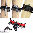 Pirate Black Lace Garter Fancy Dress Hen Night Party Wedding Costume Accessory