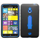 For Nokia Lumia 1320 IMPACT Hard Rubber Case Phone Cover Kickstand Accessory