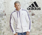 Adidas White Zip Hoody Purple Stripes in S XS CLEARANCE PRICE SAMEDAY DISPATCH