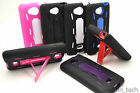 For LG Spirit 4G MS870 Impact Hybrid Stand Case Hard Soft Gel Shockproof + Film