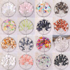 Round Tree of life-Agate Crystal Opal Shell wire wrapped stone Pendant 1Pcs