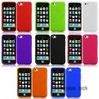 For Apple iPhone 4 4S 5 5S 5C Silicone Gel Skin Flexible Case Soft Cover
