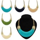 Hot Sell Fashion Resin Half Arc Pendant Chunky Choker Chain Retro Style Necklace
