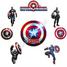 Captain America Iron on T Shirt Transfer Many Designs A6 A5 A4 Avengers