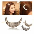 Crystal Moon Rhinestone Hair Clip Bang Clip Headdress Hairpin Clamps Beauty Lady
