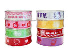 HELLO KITTY Sanrio GROSSGRAIN RIBBON 4 Assorted Designs Each *YOU CHOOSE SPOOL*