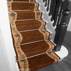 Wave Brown - Stair Carpet Runner For Narrow Staircase Quality Wilton Cheap New