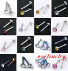 10pc Stainless Steel CZ Crystal Rhinestone Nose Nostril Studs Rings