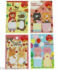 BLOC de POST-IT Kawaii CHAPERON ROUGE, animaux, CHAT + CUPCAKE, LAPIN...
