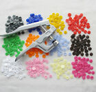 130Sets Size 20 T5 Resin Snap Buttons For Cloth Bib Diaper Pliers 13 Colors